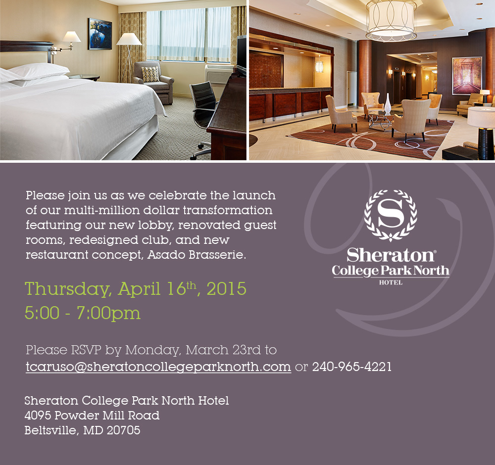 sheraton april event invitation 03 16 - Multi Hotel 2015