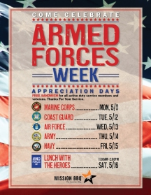 Mission BBQ Armed Forces Week