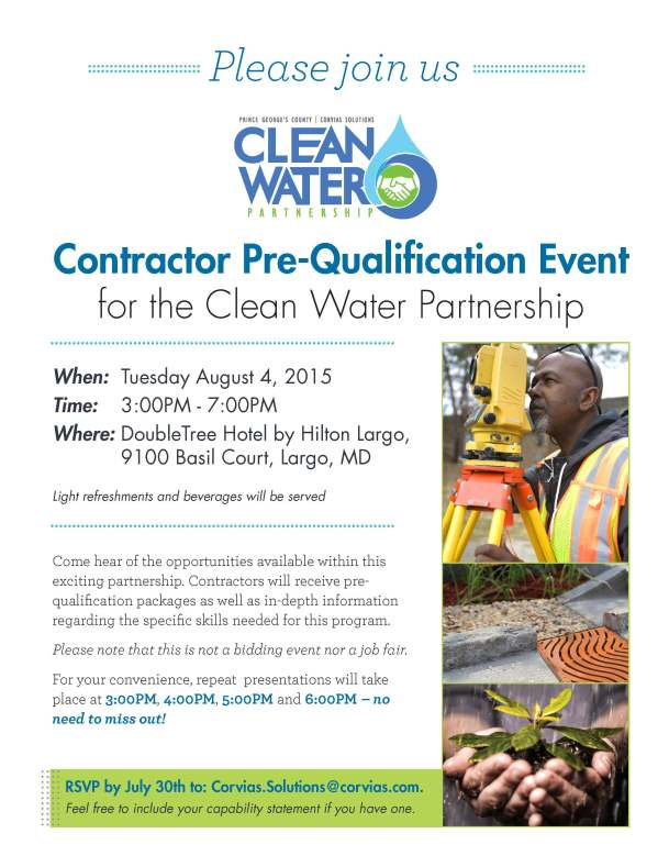 CWP Contractor Pre-Qualification Event