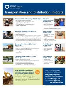 PGCC TDI Programs 2015