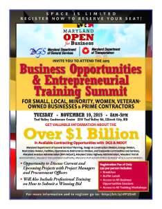 Business Summit Flyer