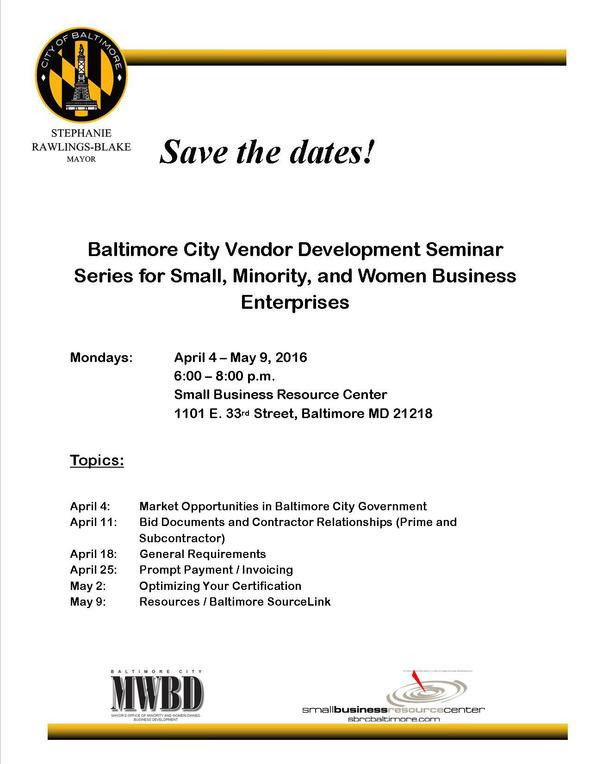 Save the Date Mayor of Baltimore Event